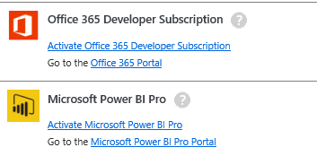 Activate Power BI MSDN