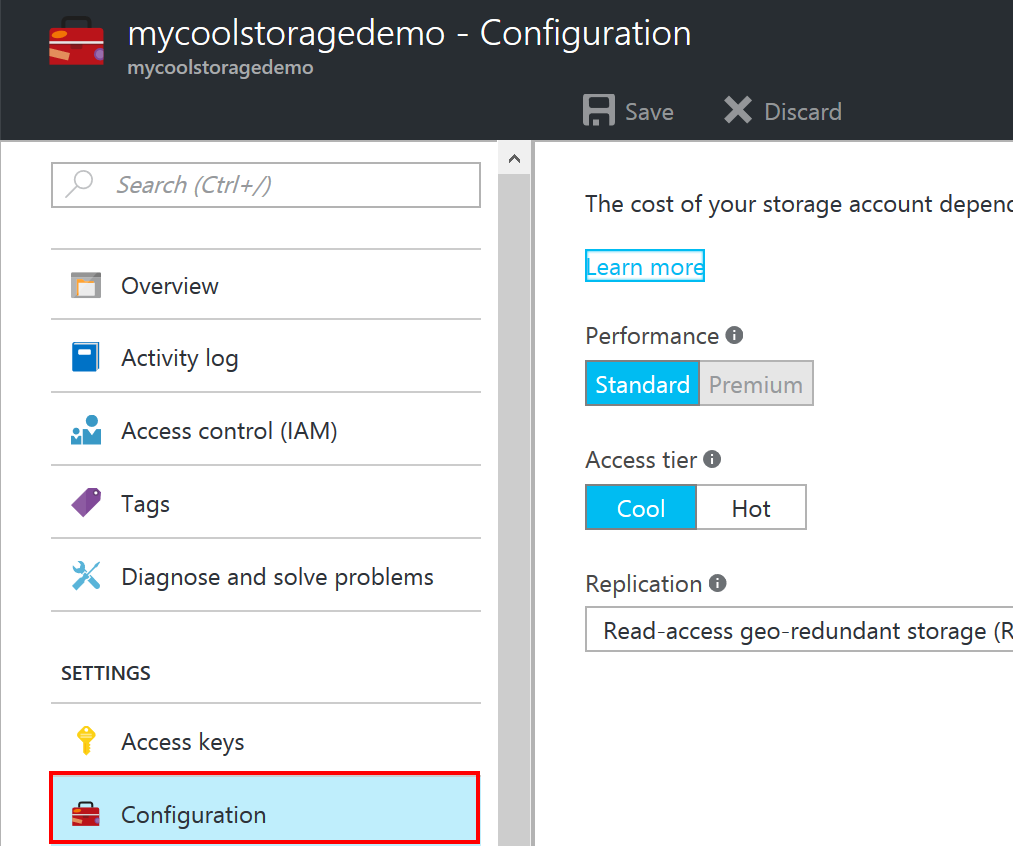 Azure Hot and Cold Blob Storage – Peter in the Azure sky