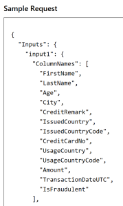 Default WS Input Parameters