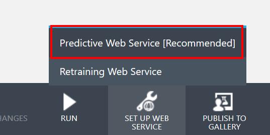 Create Predictive Web Service