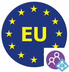 Azure AD B2C can be set up to store user information in EU Datacentersonly